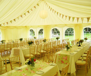 bunting, tent, and wedding image