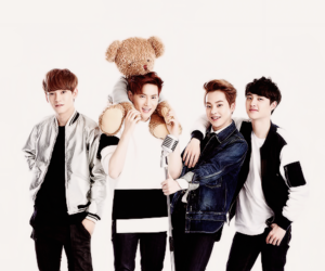 exo, xiumin, and Chen image