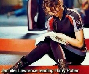 Jennifer Lawrence, harry potter, and the hunger games image