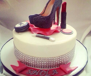 cake, shoes, and birthday image
