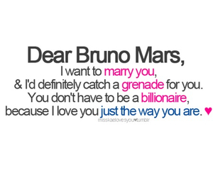 bruno mars, Grenade, and marry you image