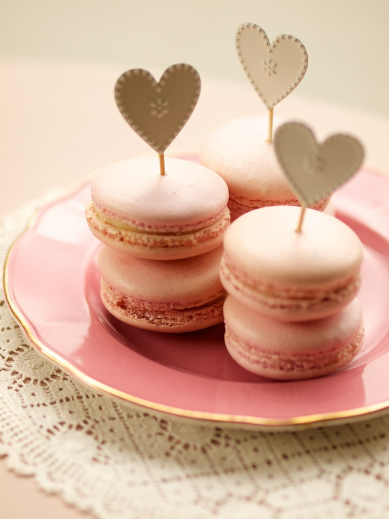 DIY Heart Topper For Wedding Party Macarons Vintage Pastel Pink Macarons pink wedding ideas diy food crafts heart decorations paper heart & DIY Heart Topper For Wedding Party Macarons Vintage Pastel Pink ...