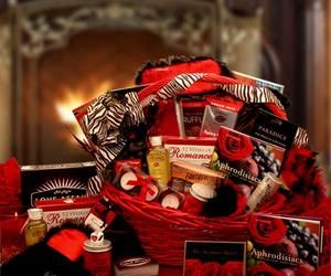 Valentine Day, gift basket delivery, and valentine gift basket image
