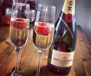 champagne, strawberries, and luxury image