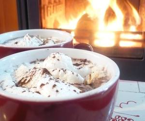 christmas, fire, and winter image