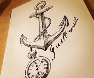 anchor, drawing, and art image
