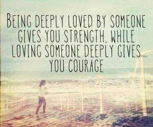 love, quote, and courage image