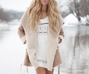 blond, cold, and girl image