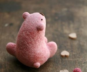 pink, cute, and bear image