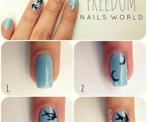 nails, freedom, and diy image