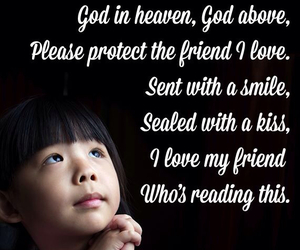 friend, pray, and smile image