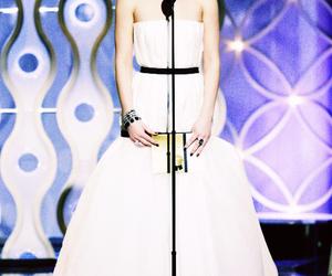 Jennifer Lawrence and golden globes image