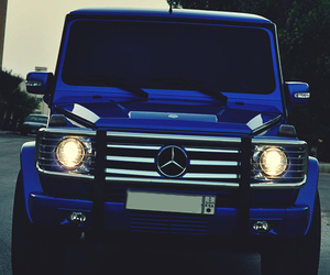 blue, car, and mercedes image