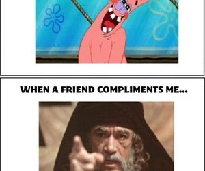 funny, friends, and patrick image