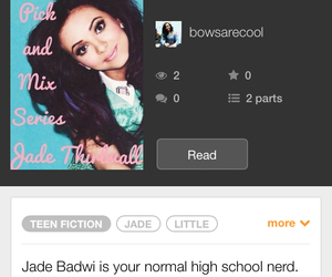 fanfic, wattpad, and jade from little mix image