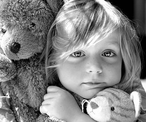 child and bear image