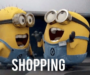 shopping, minions, and funny image