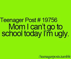 ugly, school, and teenager post image