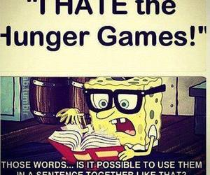 the hunger games, spongebob, and funny image