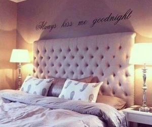 bedroom, bed, and kiss image