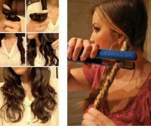 diy, hair, and styling image