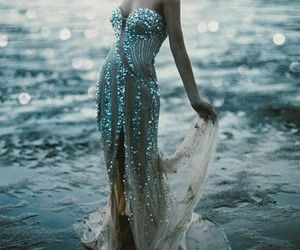 dress, sea, and ocean image