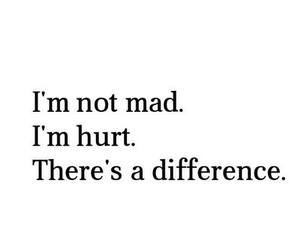 hurt, mad, and quote image