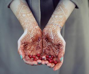 hands, henna, and tattoo image