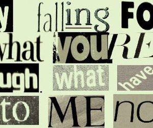 falling, Lyrics, and now image