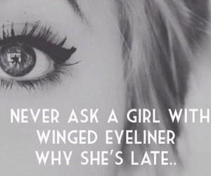 girl, eyeliner, and makeup image