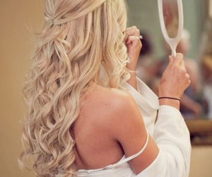 blonde, Prom, and wedding image