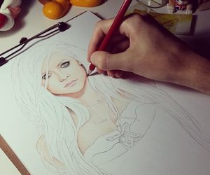 Avril, girl, and draw image