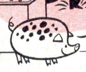 cartoon, Lowell Hess, and pig image