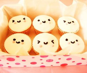 adorable, cupcakes, and faces image