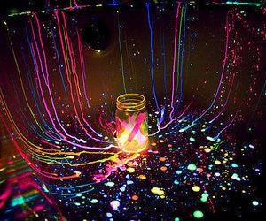 fiesta, pintura, and neon image