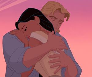 pocahontas, disney, and hug image