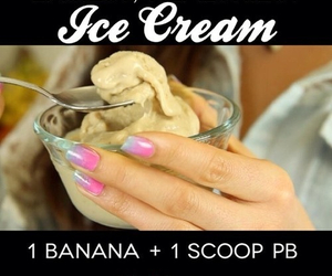 homemade, ice cream, and healthy food image