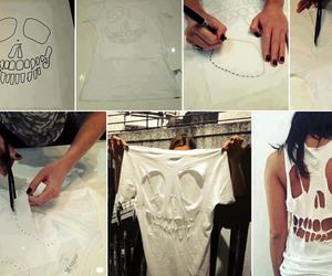 diy, skull, and t-shirt image