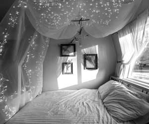 bed, dreaming, and window image