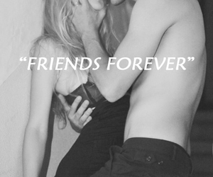 couple, kiss, and friends forever image