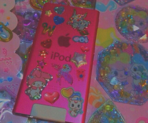 ipod, pink, and pastel image
