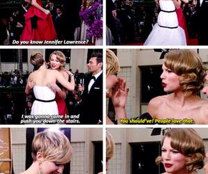 Jennifer Lawrence, golden globe, and lol image