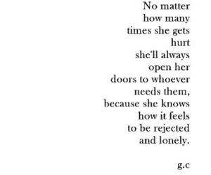 lonely, quote, and hurt image