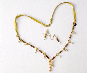 giftforher, tiger eye necklace, and beadednecklace image