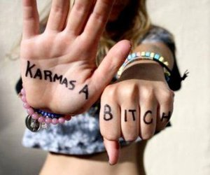 karma, bitch, and girl image