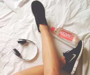 nike, water, and fitness image