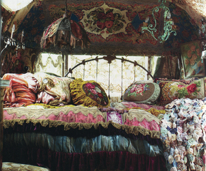 bed, bohemian, and gypsy image