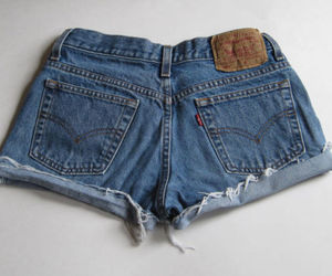 denim shorts, fashion, and festival image