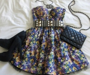 beach, clutch, and dress image