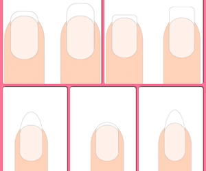 manicure, nails, and shapes image